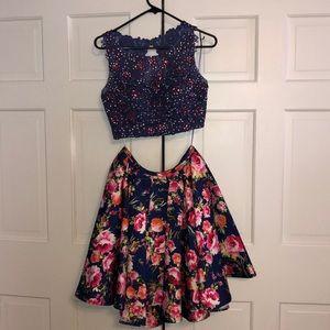 Beautiful floral prom dress